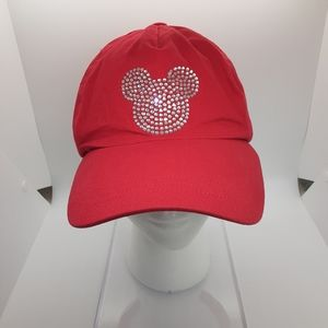 Disney hat, Mickey Mouse, red with silver bling